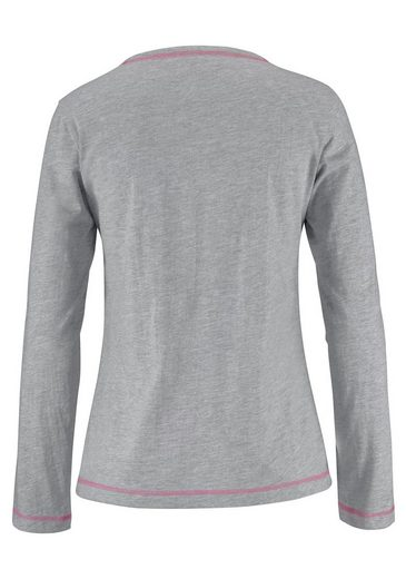 KangaROOS Pyjama in sportivem Design mit Frontprint