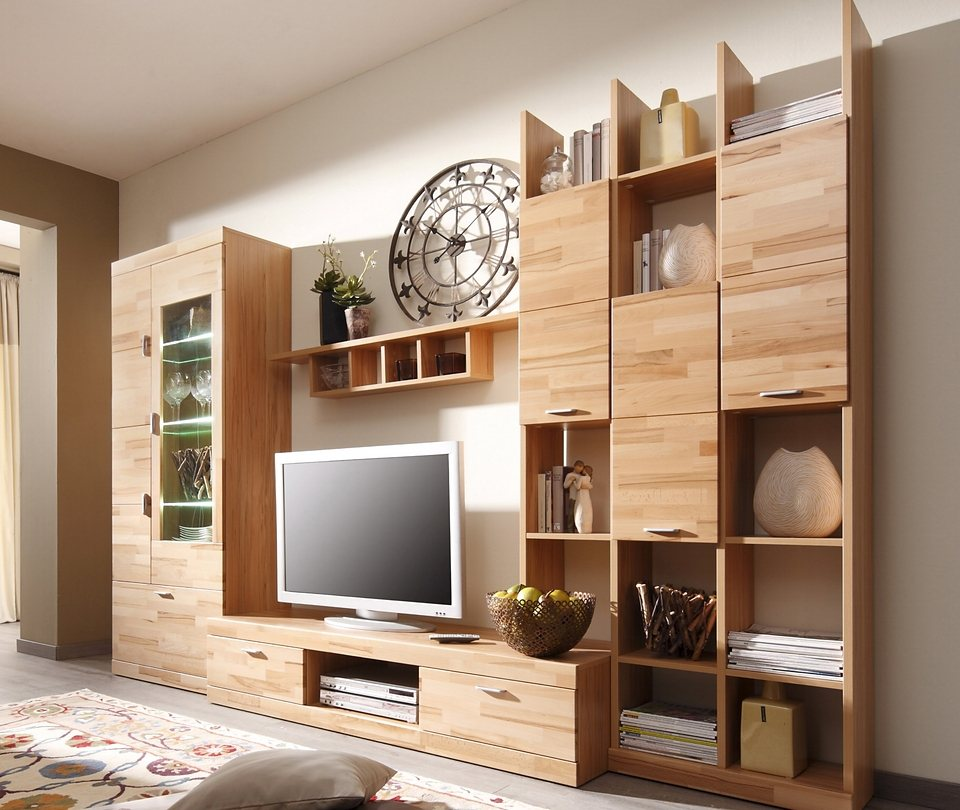 m bel wohnw nde moderne wohnw nde wohnwand 4tlg. Black Bedroom Furniture Sets. Home Design Ideas