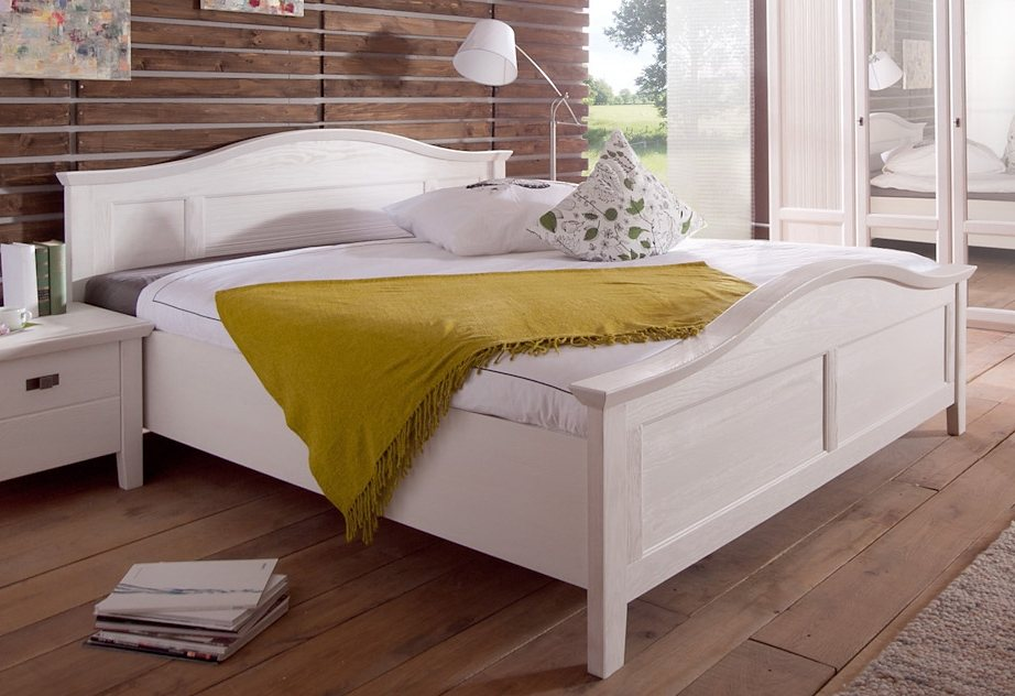 bett 160x200 weis landhaus, bett, premium collection by home affaire, »casa« | otto, Design ideen