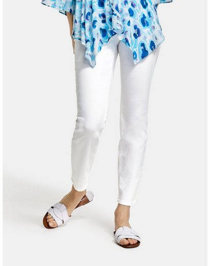 Taifun Stretch-Jeans »Skinny Jeans in knöchelfreier Länge« (1-tlg) 5-Pocket