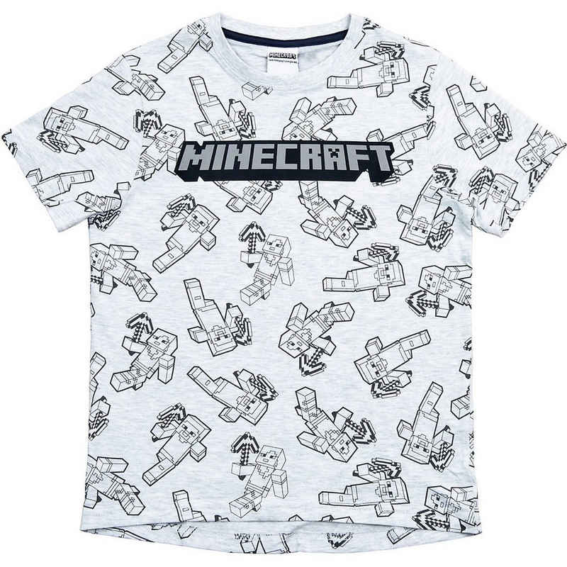 Minecraft T-Shirt »T-Shirt MiningTeam light gray 152cm«