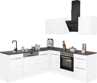 HELD MÖBEL Winkelküche »Brindisi«, mit E-Geräten, Stellbreite 220/220 cm