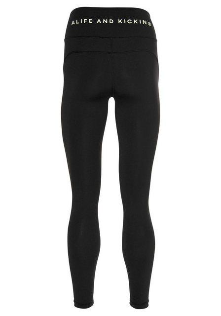 Hosen - Alife Kickin Leggings sportive 7 8 Hose mit großem Logo an der Rückseite › schwarz  - Onlineshop OTTO