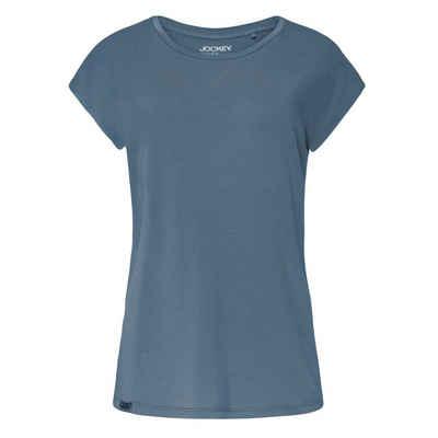 Jockey Pyjamaoberteil »Supersoft Lounge Schlafanzug Shirt kurzarm« Lockere und natürliche Passform, Leichter, weicher Stoff für ultimativen Schlafkomfort, Kleines Metalllogo am Saumbund