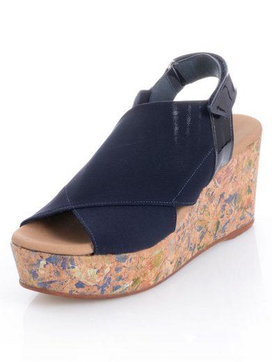 Alba Moda Sandalette mit Glanzmuster auf dem Absatz