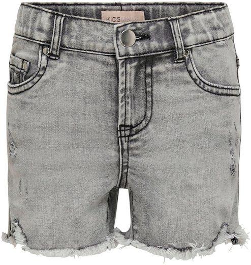 KIDS ONLY Jeansshorts »KONFINE« mit offenen Saumkanten