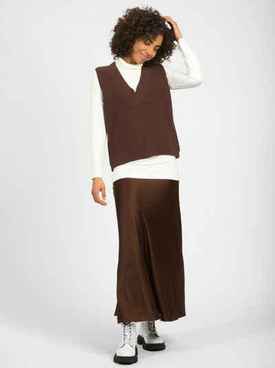 mint & mia Strickweste Merino-Strick- Pullover ärmellos mit Cashmere