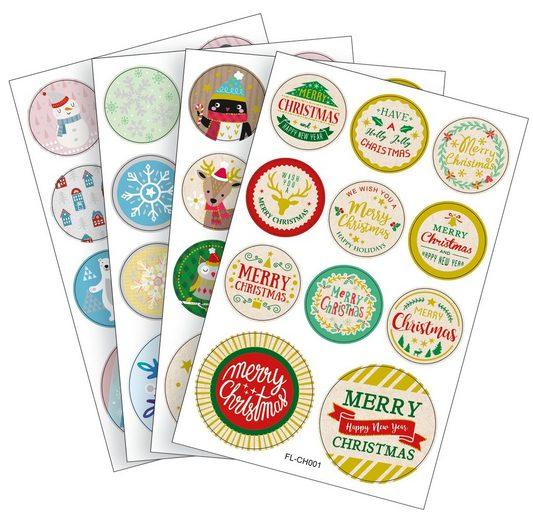 Folia Sticker »Weihnachtszeit«, 44 Stück
