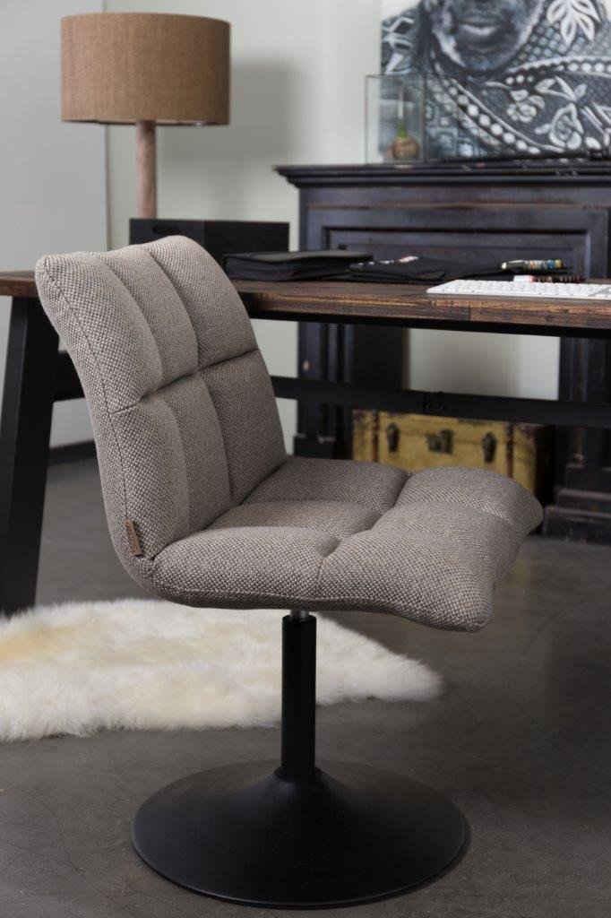 Dutchbone Drehstuhl »Lounge Stuhl MINI BAR CHAIR in hellgrau von DutchBone«