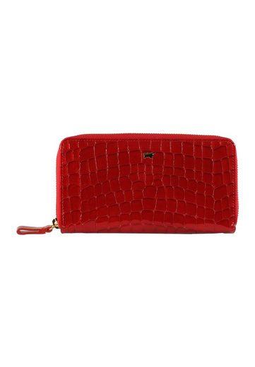 Braun Büffel Brieftasche »VERONA«, im Kroko-Design