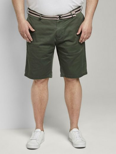 TOM TAILOR Men Plus Bermudas »Gemusterte Bermuda-Shorts mit Gürtel«