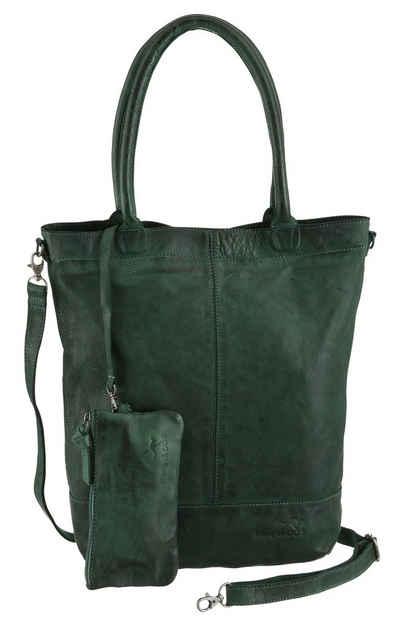 KangaROOS Shopper »Amber«, aus weichem Leder mit abnehmbarer Reißverschluss-Tasche