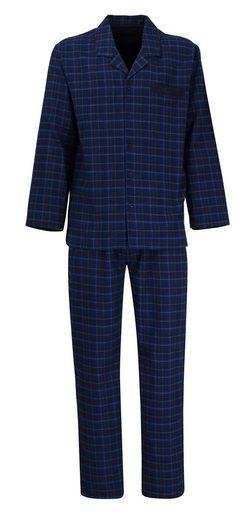 GÖTZBURG Pyjama Oberteil geknöpft Flanell