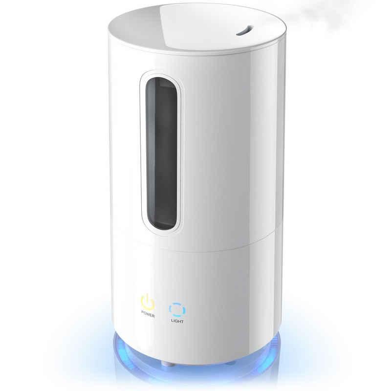 Arendo Luftbefeuchter, 3 l Wassertank, Repose Ultraschall Luftbefeuchter mit Aroma Reservoir / Regulierung der Nebelstärke