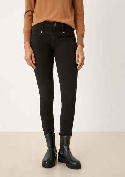 s.Oliver 5-Pocket-Jeans »Skinny: Denim mit Sattelbund«
