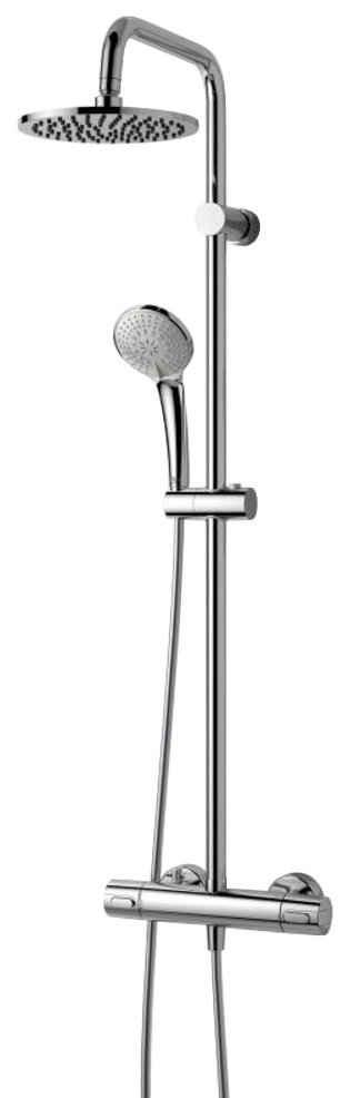 Ideal Standard Duschsystem »IdealRain Ceratherm 100«, Höhe 104 cm, 3 Strahlart(en), Set, 5 tlg., mit Brausethermostat