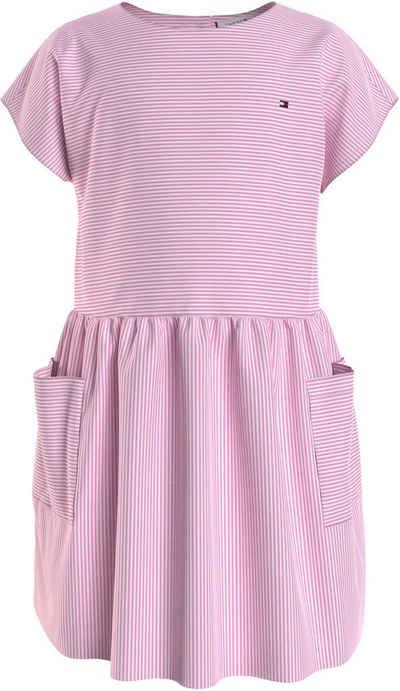Tommy Hilfiger Blusenkleid »LG NEON STRIPE DRESS S/S« mit großen Taschen