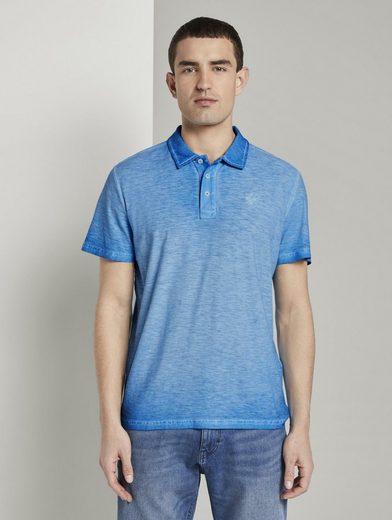 TOM TAILOR Poloshirt »Meliertes Poloshirt im Washed-Look«