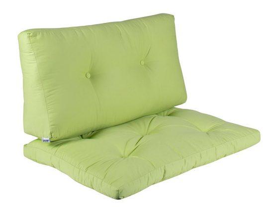 BioKinder - Das gesunde Kinderzimmer Sitzkissen, Set aus Sitzkissen mit Rückenlehne Grün
