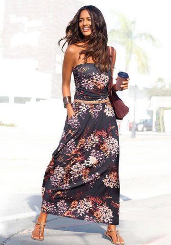 LASCANA Ilga suknelė su Floralprint