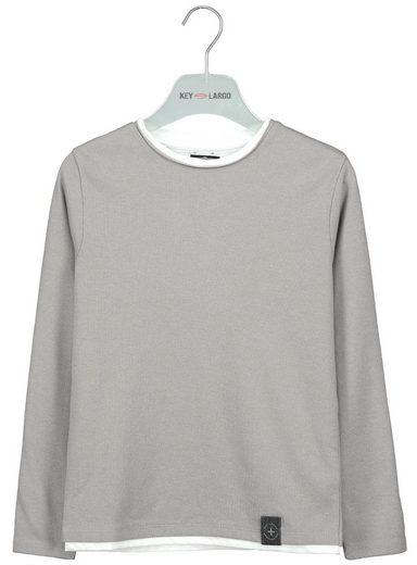 Key Largo Sweatshirt mit rundem Halsausschnitt