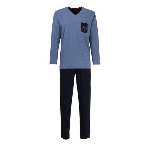 Pyjama »Herren Schlafanzug 2-tlg. Set - lang,«