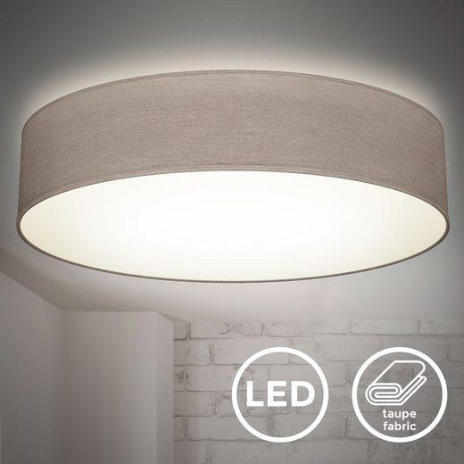 B.K.Licht Deckenleuchte »BKL1395«, 20 W LED-Stoffdeckenleuchte 48 cm neutralweiß 4.000 K 1800 Lumen 20 Watt LED Platine Taupe