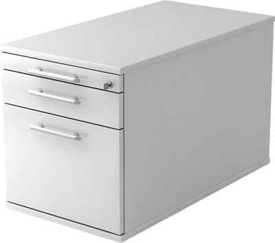 bümö Rollcontainer »OM-TC20«, mit Schloss & Hängeregistratur - Bürocontainer, Container fürs Büro - Dekor: Weiß