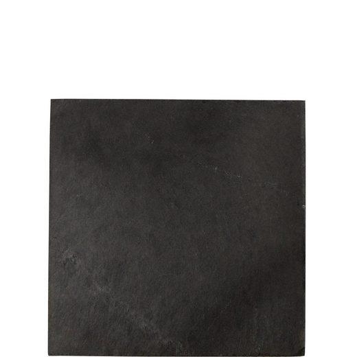 BUTLERS Topfuntersetzer PLATEAU Schieferuntersatz 30x30 cm