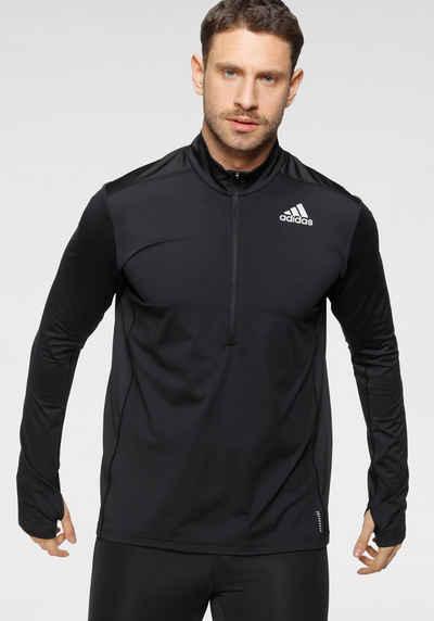 adidas Performance Laufshirt »ADIDAS OWN THE RUN 1/2 ZIP LONG SLEEVE TEE MEN«