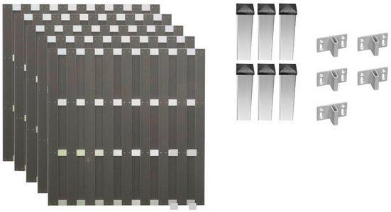 T&J Bohlenzaun »Jackson 3«, (Set), 5 Elemente, LxH: 942x180 cm