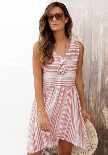 LASCANA Sommerkleid mit Steifendesign