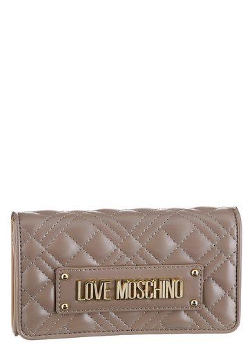 LOVE MOSCHINO Geldbörse, mit modischer Ziersteppung