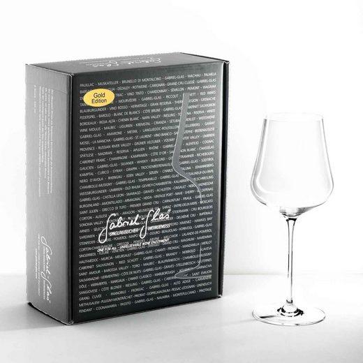 Gabriel-Glas Weinglas »Gold Mundgeblasen im 2er Geschenkkarton« (2-tlg)