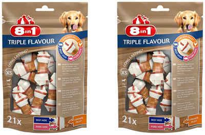 8in1 Kauknochen »Triple Flavour XS«, 2x 21 Stück