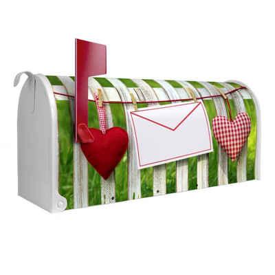 banjado Briefkasten »US Mailbox Motiv Gartenzaun«