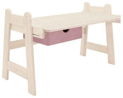 BioKinder - Das gesunde Kinderzimmer Kinderschreibtisch »Leon«, 120x70 cm, höhenverstellbar von 50-75 cm mit Schublade