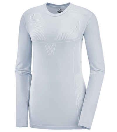Salomon Funktionsshirt »Salomon Primo Warm Seamless Tee Longsleeve Sport-Shirt warmes Damen Funktions-Shirt Langarm-Shirt Blau«