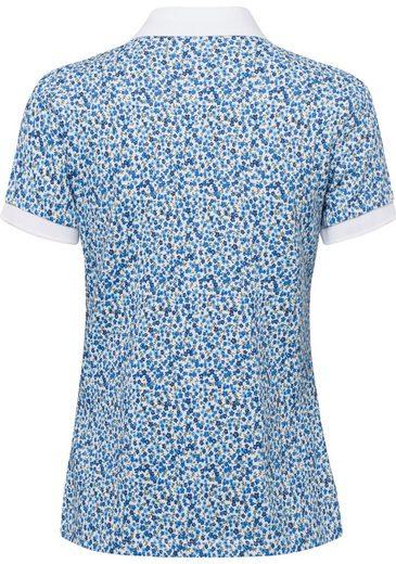 United Colors of Benetton Poloshirt mit Anker Minimal-Print