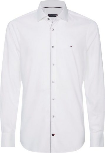 Tommy Hilfiger TAILORED Businesshemd »TWILL PIPING CLASSIC SLIM SHIRT« paspelierte Knopfleiste