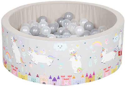 Knorrtoys® Bällebad »Soft, Unicorn grau«, mit 150 Bällen grau/weiß/transparent; Made in Europe