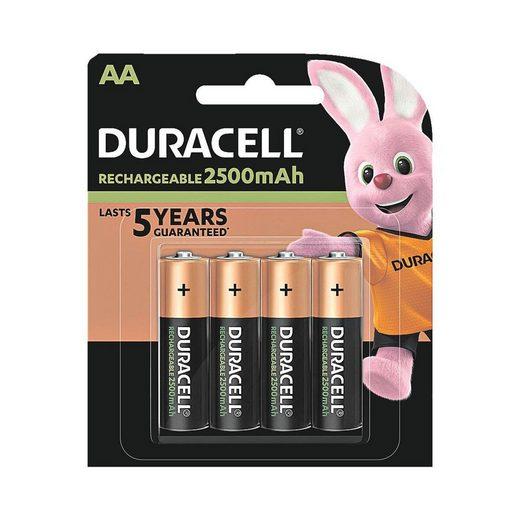 Duracell »Precharged« Akku, (4 St), AA, mehrere 1000x wiederaufladbar