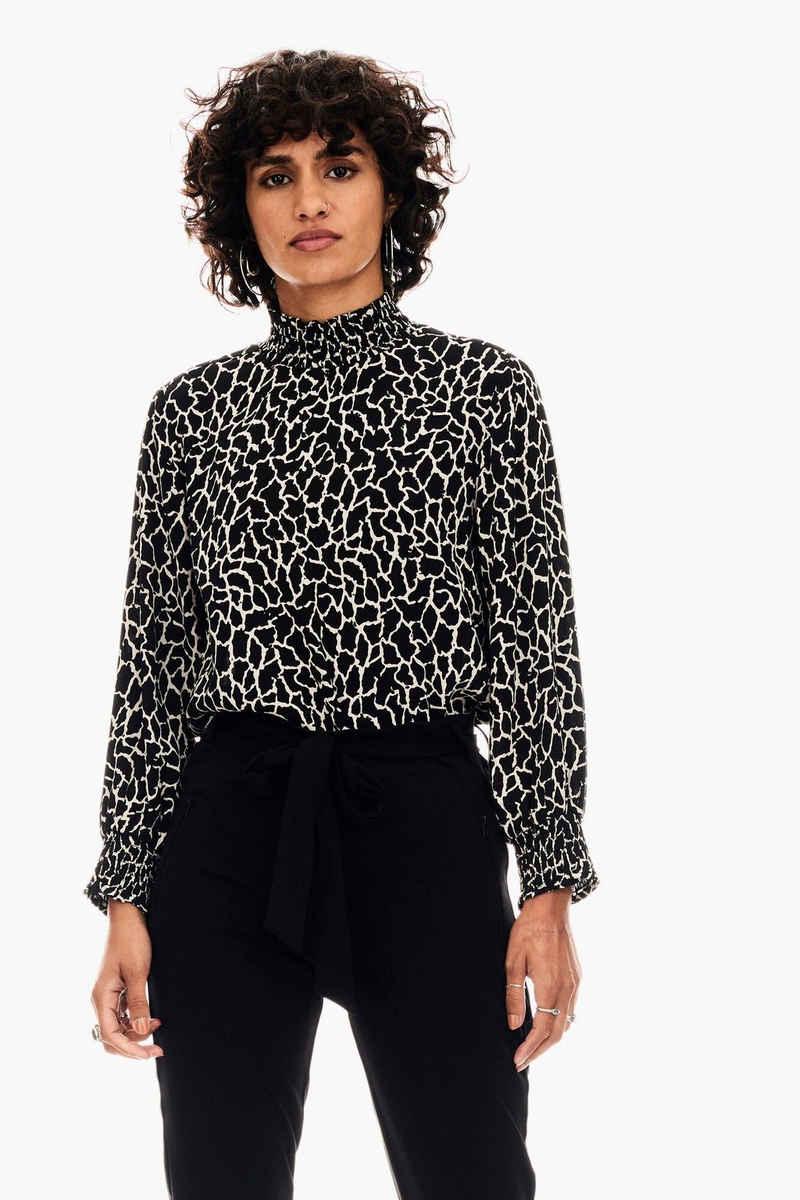 Garcia Klassische Bluse »U00033 - 60-black« mit allover Giraffenprint