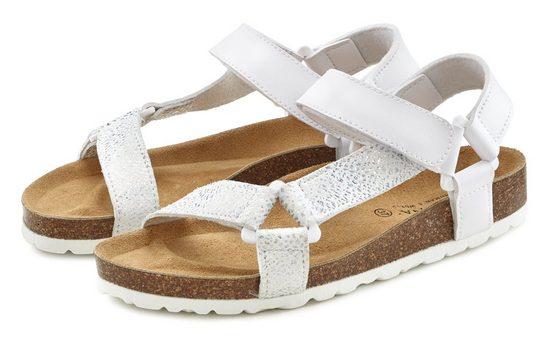 LASCANA Sandale mit Korkfußbett und Klettverschluss