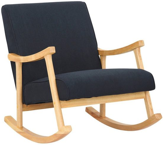 CLP Schaukelstuhl »Morelia Stoff«, mit Holzgestell