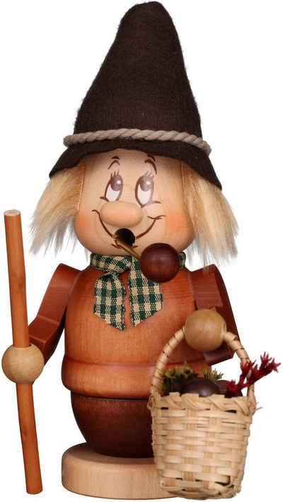 Albin Preissler Räuchermännchen »Miniwichtel Pilzsammler«, Original Erzgebirge Holzkunst, inklusive Räucherkerzen