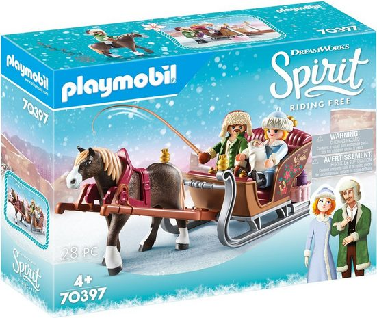 Playmobil® Konstruktions-Spielset »Winterliche Schlittenfahrt (70397), Spirit Riding Free«, Made in Europe