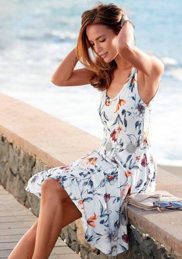 Vivance Jerseykleid mit Blumendruck