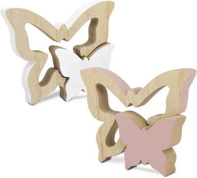Tierfigur »Schmetterlinge« (Set, 2 Stück), aus Holz