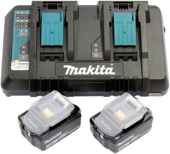 MAKITA Akkuladestation »Power Source Kit Li 18 V 5,0 Ah«, für 2 Akkus